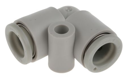 SMC Pneumatic Elbow Tube-to-Tube Adapter Push In 8 mm to Push In 8 mm
