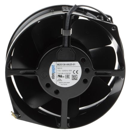 ebm-papst Axial Fan, 150 x 55mm, 380m³/h, 38W, 115 V ac (W2S130 Series)