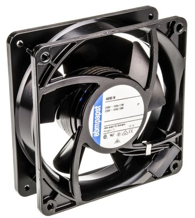ebm-papst 4000N Series Axial Fan, 119 x 119 x 38mm, 80m³/h, 11W, 230 V ac