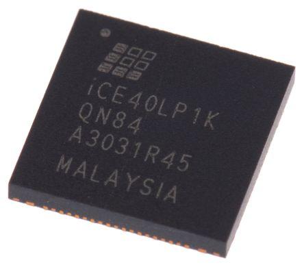 Lattice FPGA iCE40LP1K-QN84, iCE40 LP 1280 Cells, 64kbit, 160 Blocks,  84-Pin QFN