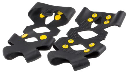 M Black Thermoplastic Pull-On Ice Traction Grippers