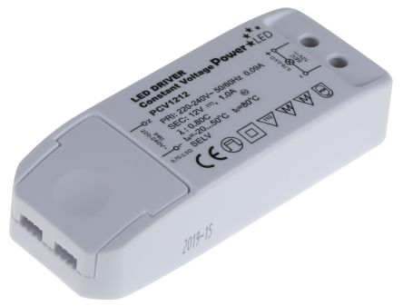 PowerLED PCV1212, Constant Voltage LED Driver 12W 12V 0 → 1A