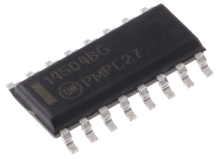 ON Semiconductor MC14504BDR2G, Logic Level Translator, Level Translator, CMOS, TTL to CMOS, CMOS, 16-Pin SOIC