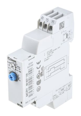 Crouzet OFF Delay Single Timer Relay, Screw, 0.1 s → 100 h, SPDT, 1 Contacts, SPDT, 24 → 240 V ac, 24 V dc