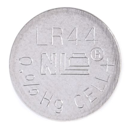 RS Button Battery, LR44, 1.5V, 11.53mm Diameter product photo