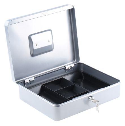 Large Silver Steel Cash Box 300x245x90