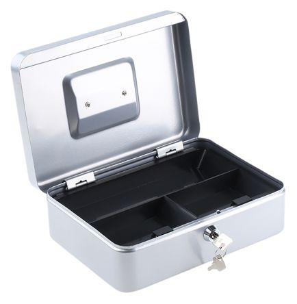 Medium Silver Steel Cash Box 250x185x90