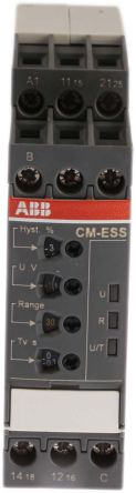 ABB Voltage Monitoring Relay with DPDT Contacts, 1 Phase, 24 → 240 V ac/dc