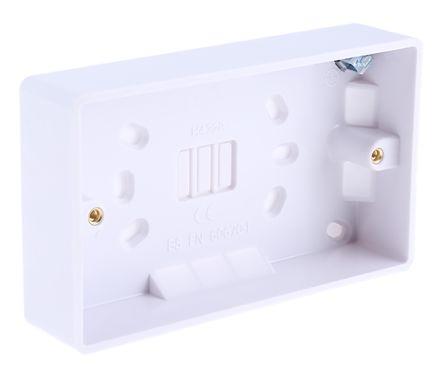 Surface patress back box 2 gang 28mm
