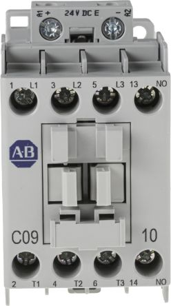 Allen dley 3 Pole Contactor, 9 A, 24 V dc Coil, 100 Series, 3NO, 4 on