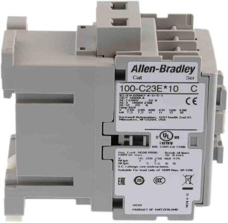 100-C23EJ10 | Allen Bradley 3 Pole Contactor - 23 A, 24 V dc Coil, 100  Series, 3NO, 11 kW | RS Components