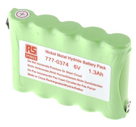 6V NiMH AA Rechargeable Battery Pack, 1300mAh product photo