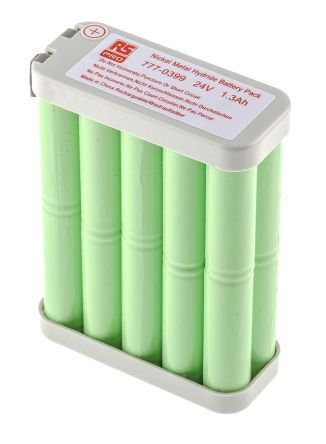 24V NiMH AA Rechargeable Battery Pack, 1300mAh product photo