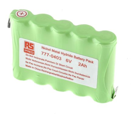 6V NiMH AA Rechargeable Battery Pack, 2000mAh product photo