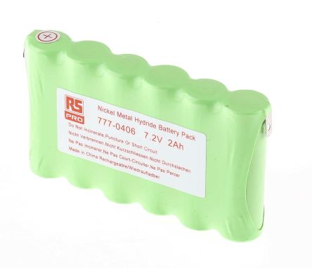 7.2V NiMH AA Rechargeable Battery Pack, 2000mAh product photo