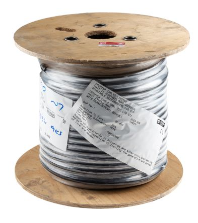 RS PRO 3 Core Black Armoured Cable With Polyvinyl Chloride PVC Sheath , SWA Galvanised Steel Wire, 25 A, 50m