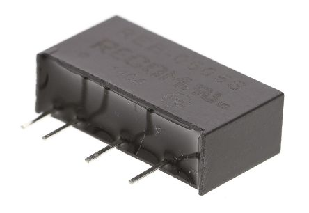 Recom Through Hole 1W Isolated DC-DC Converter, Vin 4.5 → 5.5 V dc, I/O isolation 1kV dc, Vout 5V dc