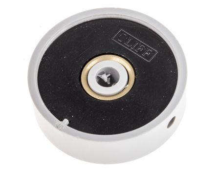 RS PRO Potentiometer Knob, Grub Screw Type, 38 6mm Knob Diameter, Grey, 6mm  Shaft