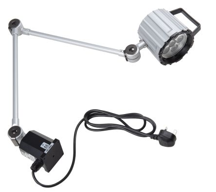 RS PRO LED Machine Light, 100 → 260 V ac, 12 W, Adjustable Arm, 400mm Reach, 800mm Arm Length