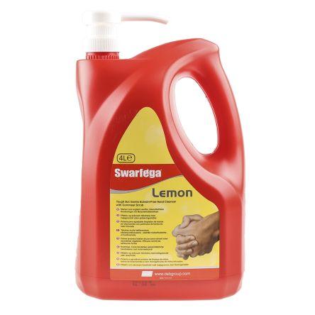 Swarfega SWL4LMP Lemon Pump Bottle 4L