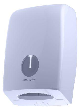 Kimberly Clark Plastic White Wall Mounting Paper Towel Dispenser, 270mm x 410mm x 140mm