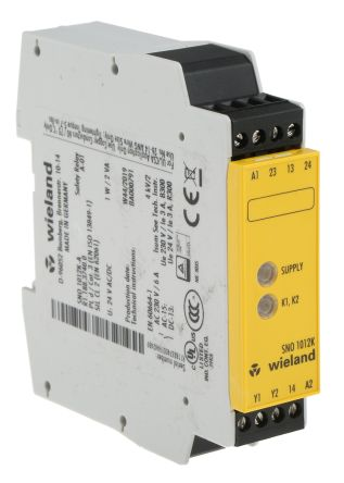 Wieland SNO 1012 24 V acdc Safety Relay Single Channel with 2