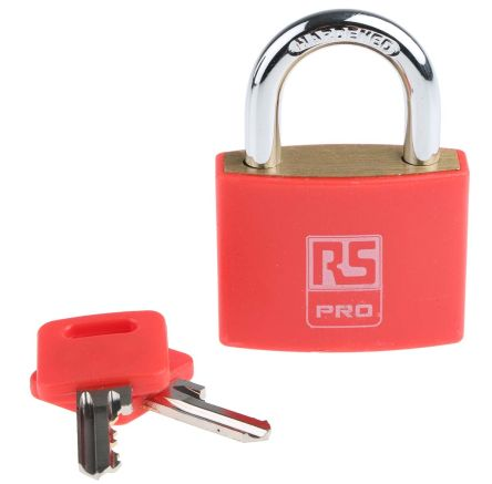 RS PRO All Weather Brass Padlock 43mm