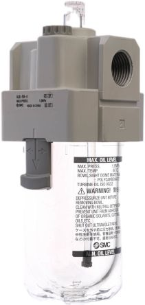 SMC G 1/2 Pneumatic Air Lubricator, -5 → +60°C