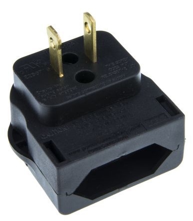 PowerConnections Europe to US Mains Connector Converter, Rated At 10A
