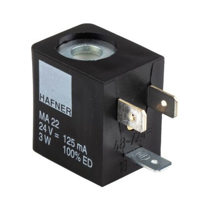 RS PRO 24V dc 3W Replacement Solenoid Coil, Compatible With MH Series, MNH Series