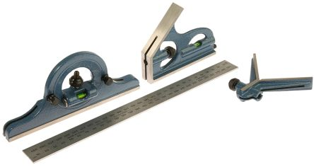 RS PRO 300mm Combination Square Set, Tempered Steel