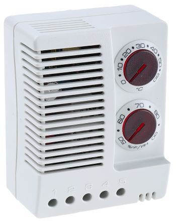 Enclosure Thermo Hygrostat, Changeover, 0 -> +60°C, 50 -> 90%RH, 24 -> 48 V dc product photo