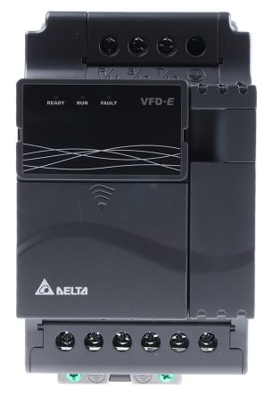 Delta Inverter Drive, 3-Phase In, 0 → 600 Hz Out 2 2 kW, 460 V with EMC  Filter, 7 1 A VFD-E, IP20