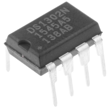 Maxim DS1302N+, Real Time Clock (RTC), 31B RAM Serial-3 Wire, 8-Pin PDIP