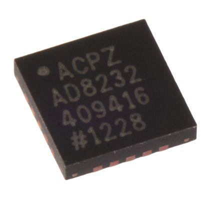 AD8232ACPZ-WP, Analogue Front End IC, 1-channel, 20-Pin LFCSP