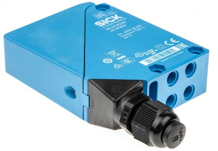 Sick Retro-Reflective Photoelectric Sensor 0.03 → 22 m Detection Range Relay IP67 Block Style WL34-R240