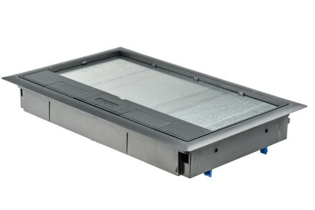 Legrand Grey Floor Box Cover Kit 3 Compartments