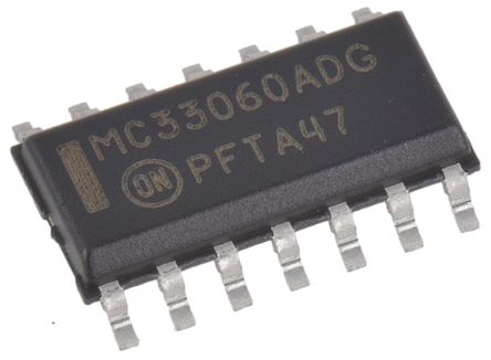 MC33060ADR2G, PWM Voltage Mode Controller, 200 mA, 11.5 kHz 14-Pin, SOIC product photo