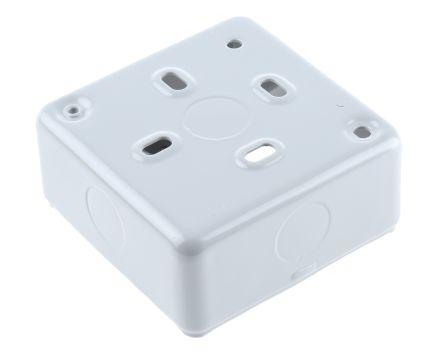 MK Electric Metal Clad Back Box, 1 Gangs, 20 x 5mm