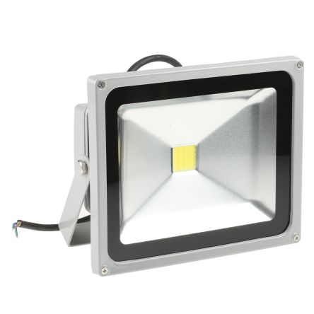 RS Pro LED Floodlight, 1 LED, 30 W, 2400 → 2700 lm, IP65 85 → 265 V