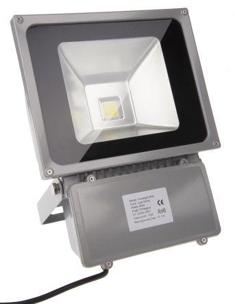 RS PRO Светодиодный светильник заливного света, 85 → 265 В 80 Вт