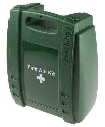 Wall Mounted First Aid Kit for 10 people, 270 mm x 215mm x 50 mm