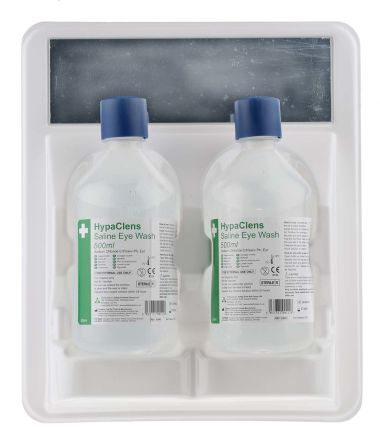 Wall Mounted Eye Wash Bottle, 2 x 500 ml