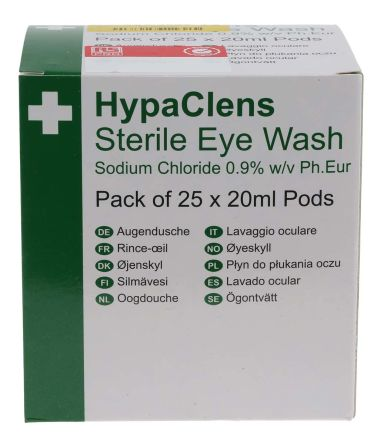 20ml Sterile Eyewash Pods, Pack of 25