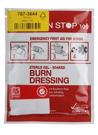 RS PRO White Burns Dressings and Gels Burns Dressing Kit 100mm, X 100mm