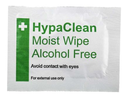RS PRO Alcohol Free Wipes Wipe, 100 Per Package