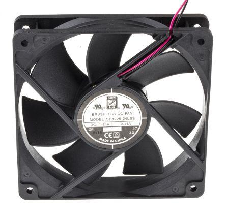 DC sealed sleeve fan,120mm 24V low speed
