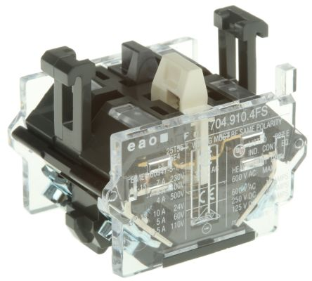 NC Push Button Contact Block for use with Human Machine Interface