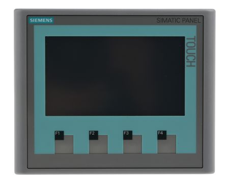 Siemens Backlit TFT HMI Panel, 4.3 in Display, 24 V dc Supply, 116 x 140 x 33 mm