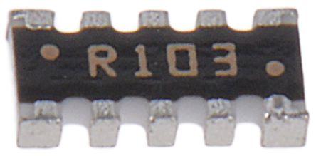 Resistor Networks /& Arrays 10K 5/% Concave 8resistors 5 pieces